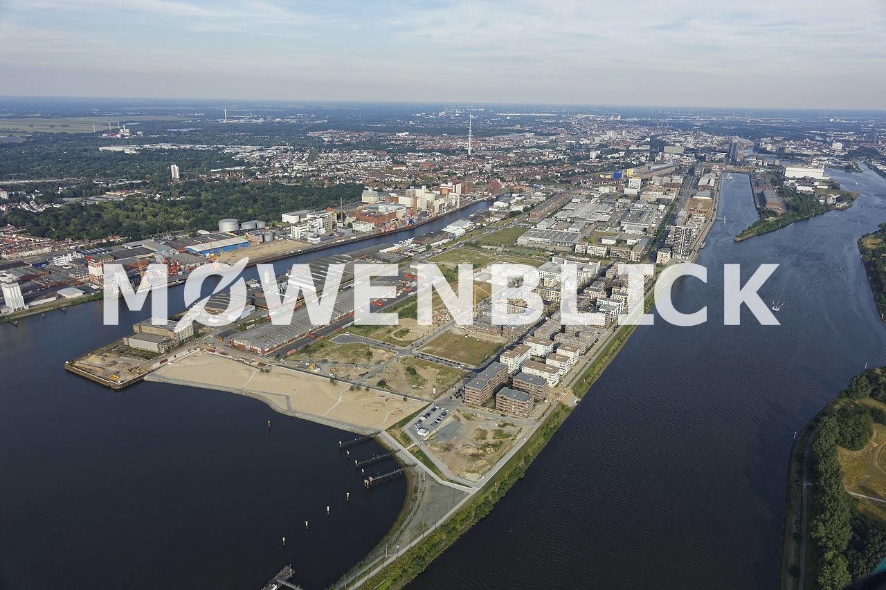 Überseestadt Luftbild