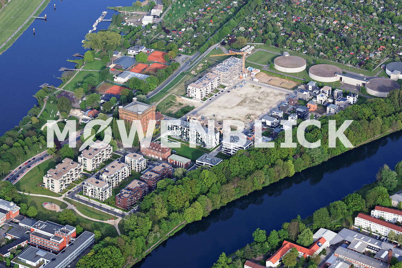 Auf dem Werder Luftbild