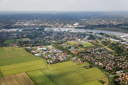 Luftaufnahme Lemwerder an der Weser