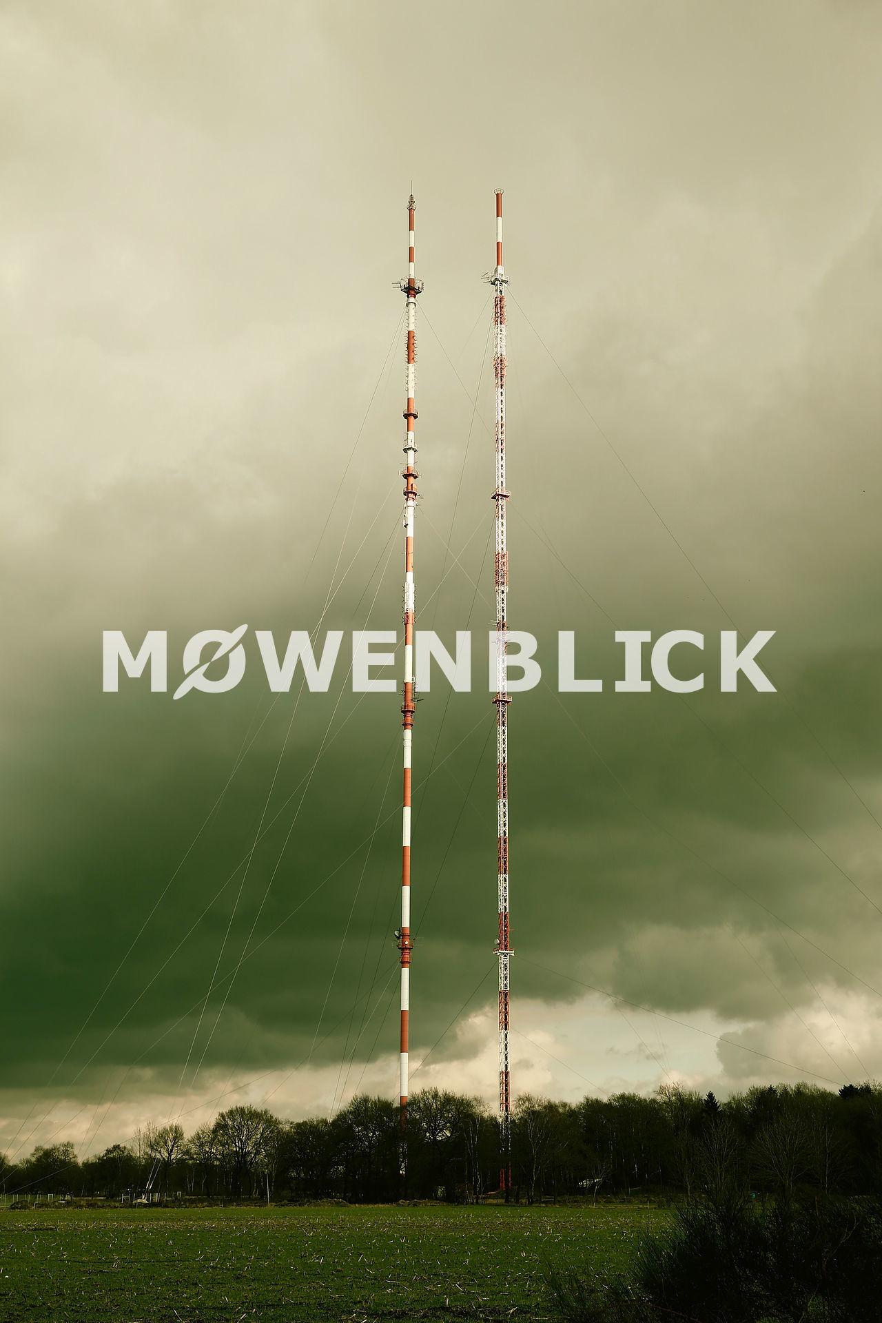 NDR Fernsehsender Steinkimmen Luftbild