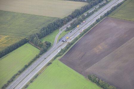 Lastwagenunfall auf der Autobahn A 28 zwischen Hude und Hatten