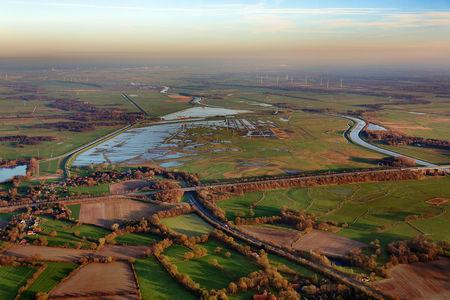 Bornhorster Wiesen überschwemmt