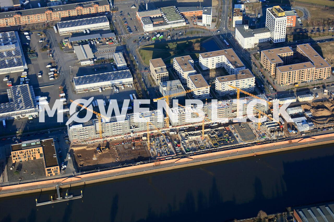 Neubauten Überseepromenade Luftbild