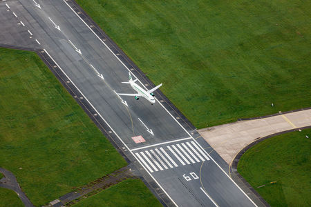 Luftaufnahme Flugzeug