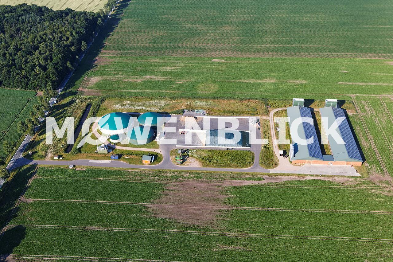 Klein Hollwedel Biogas Luftbild