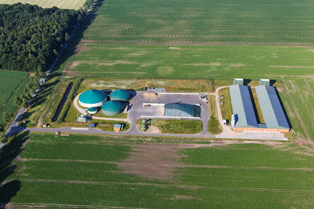 Luftaufnahme Biogasanlage