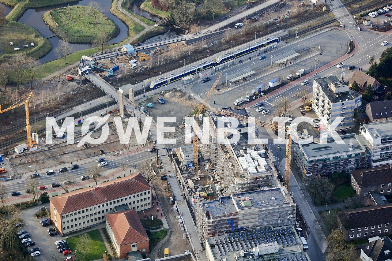 Neue Fußgängerbrücke Luftbild