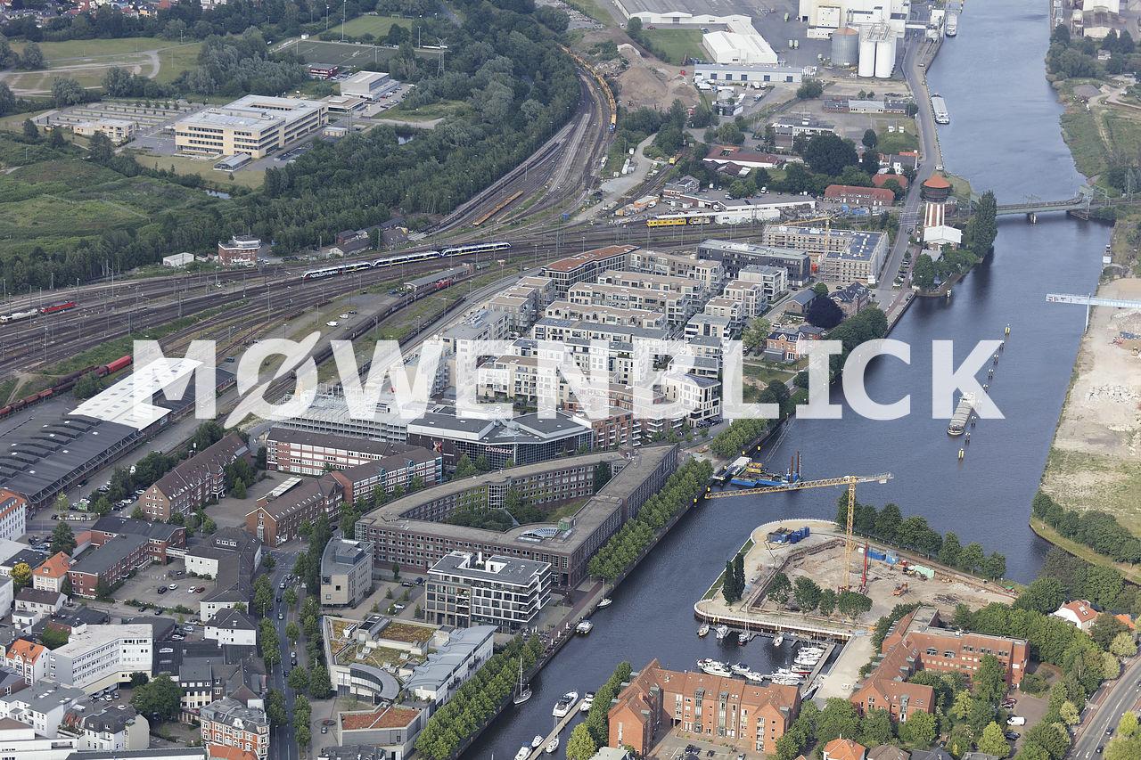 Hafenpromenade Luftbild