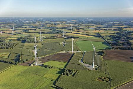 Luftaufnahme Windparkbaustelle