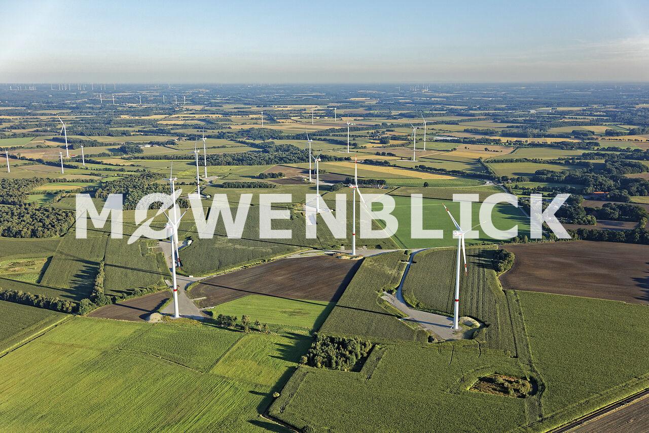 Windparkbaustelle Luftbild