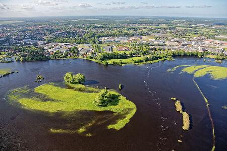 Luftaufnahme Allerüberschwemmung