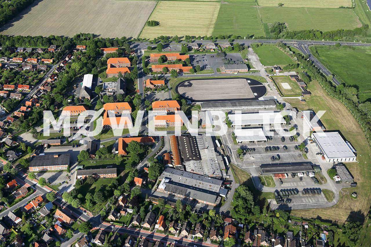 Evenburg-Kaserne Luftbild