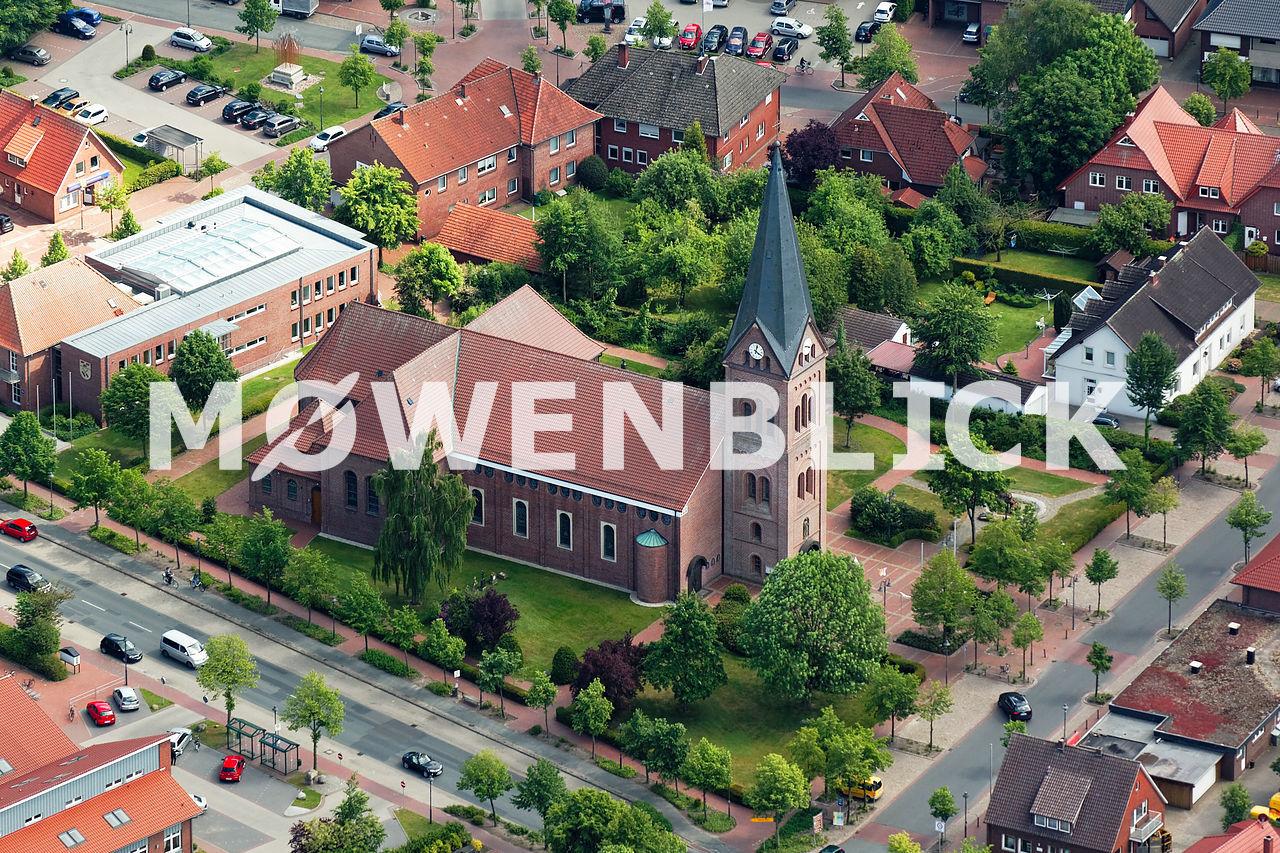 St. Cäcilia Kirche Luftbild