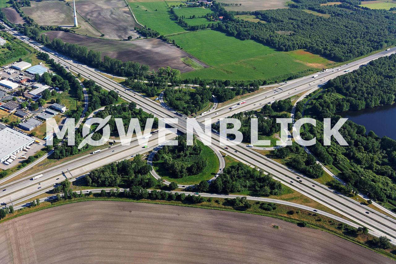 Autobahnkreuz Bremen Ost Luftbild