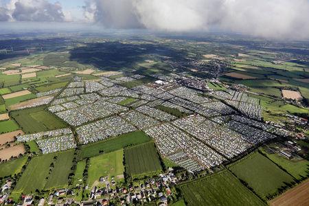 Luftaufnahme Wacken 2016 WOA