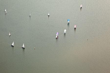 Luftaufnahme Segelboote