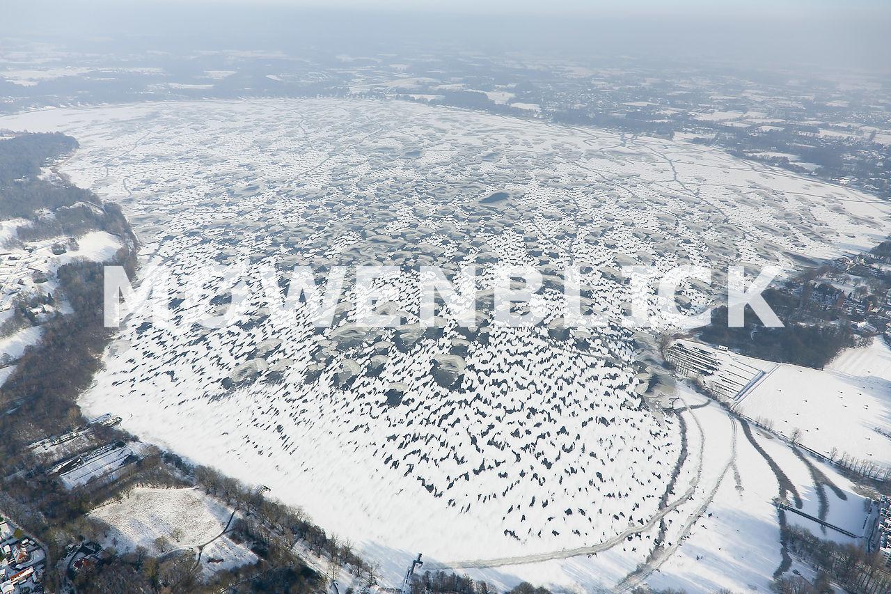 Zwischenahner Meer zugefroren Luftbild