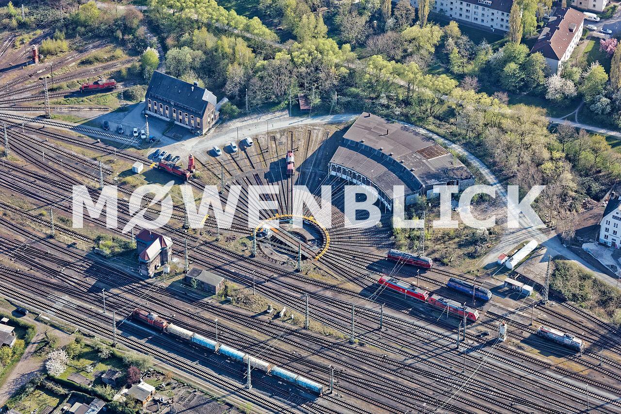 Rangierbahnhof Lokschuppen Luftbild