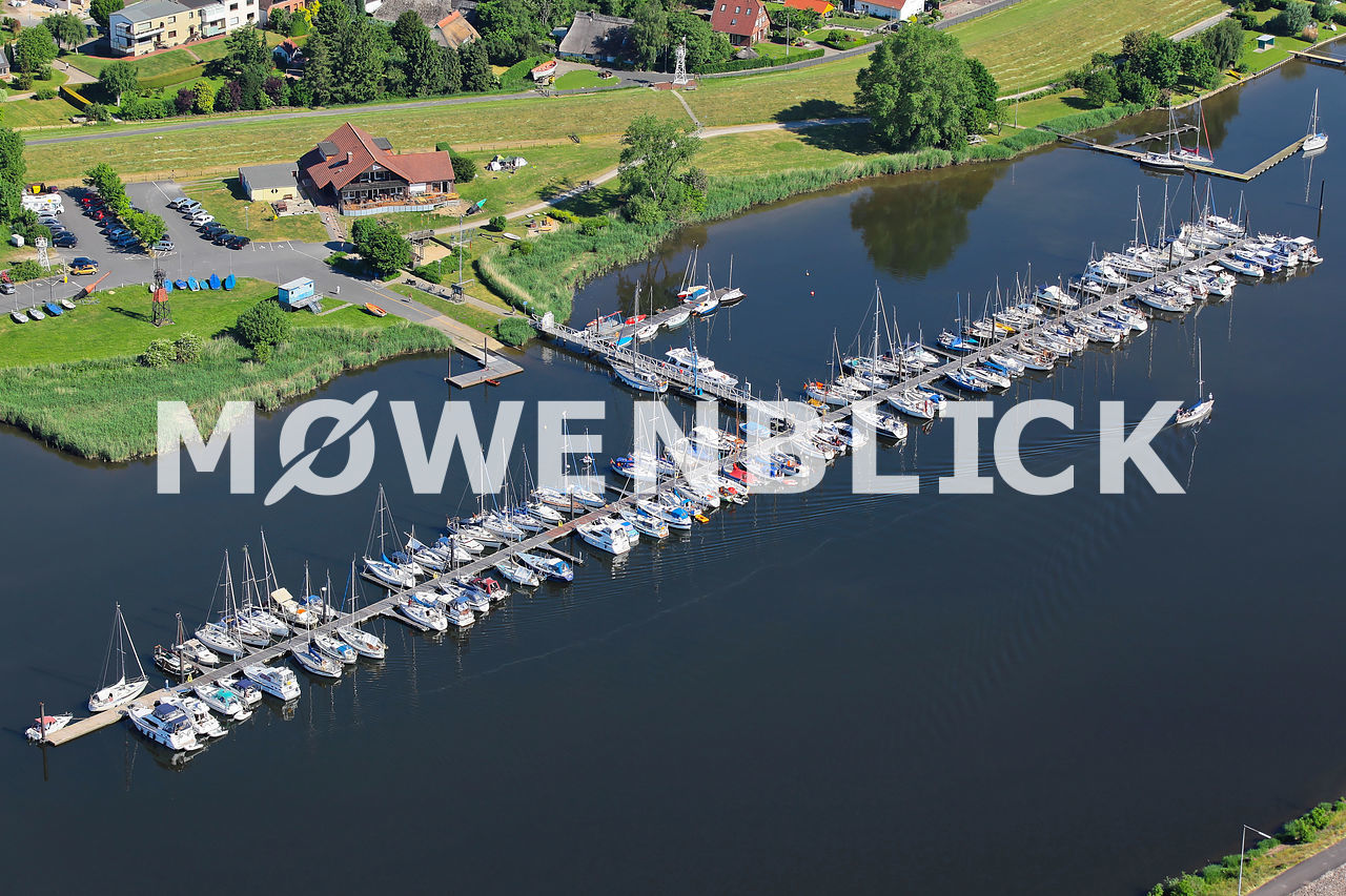 Weserstrand Segelclub Luftbild