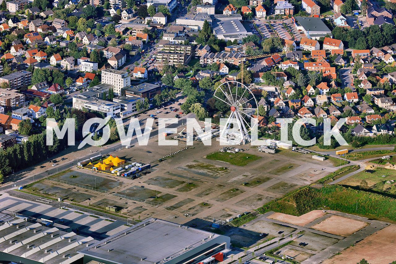 Kramermarkt Aufbau 2015 Luftbild