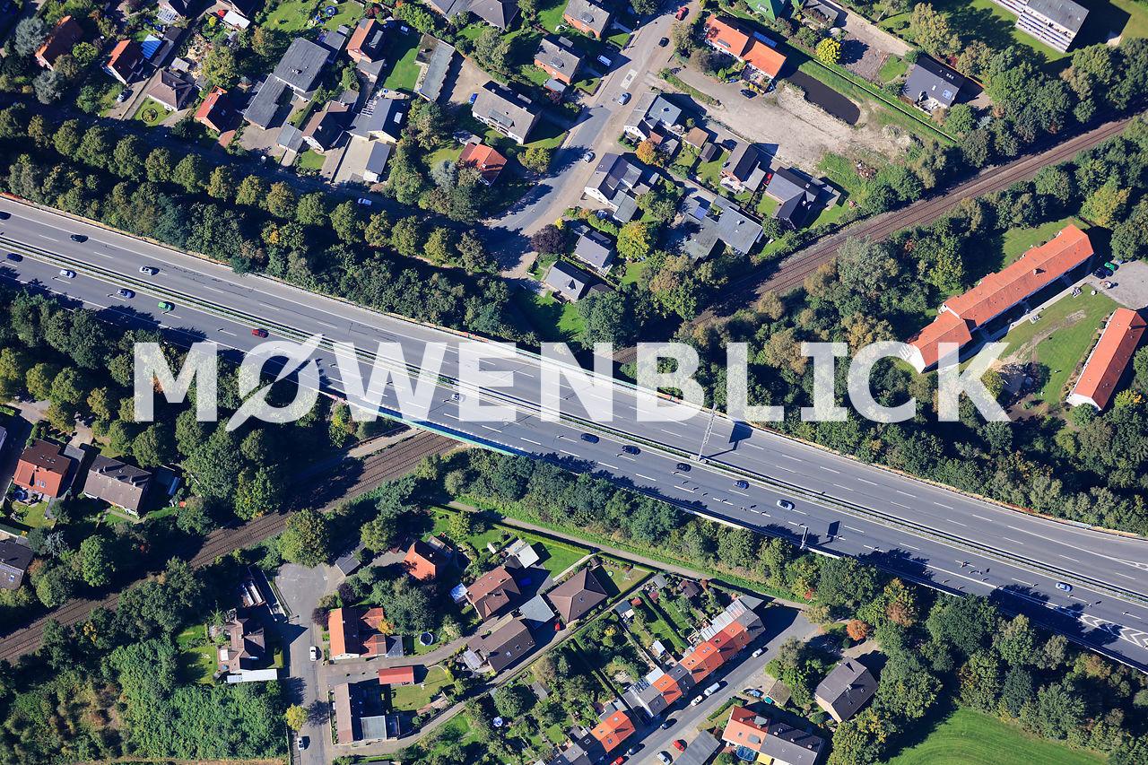Autobahnbrücke A 293 Luftbild