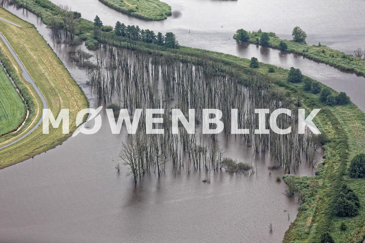Überschwemmte Oste Luftbild