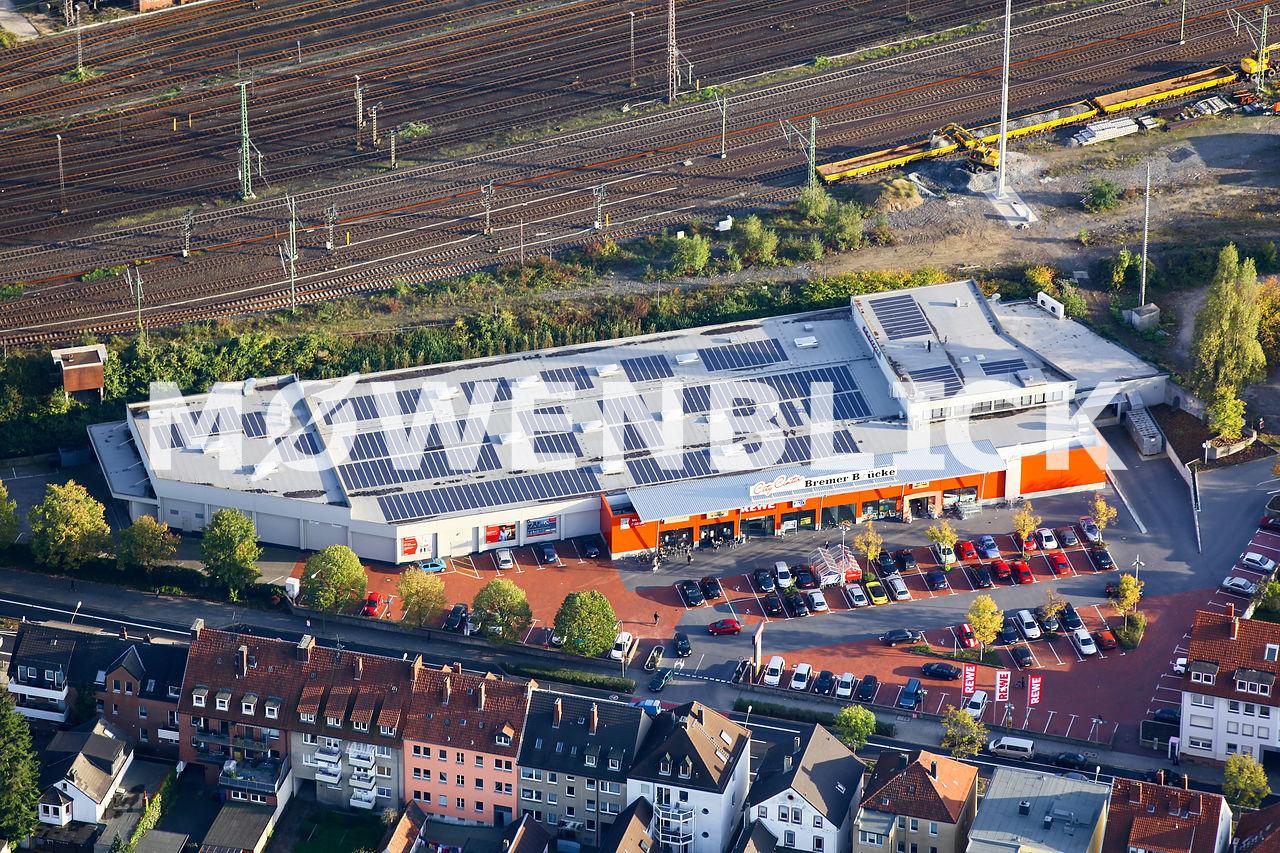 Aldi Rewe Luftbild