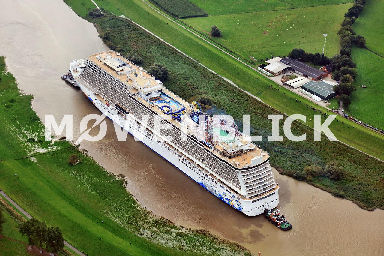 Kreuzfahrtschiff Norwegian Luftbild