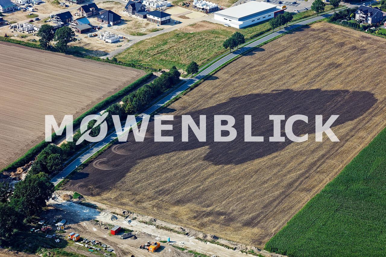Feldbrand Cloppenburg Luftbild