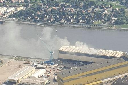 Feuer auf der Lürssen Werft