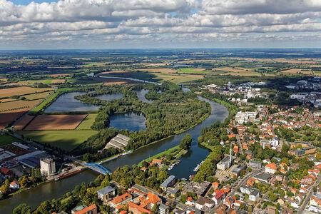 Luftaufnahme Die Weser