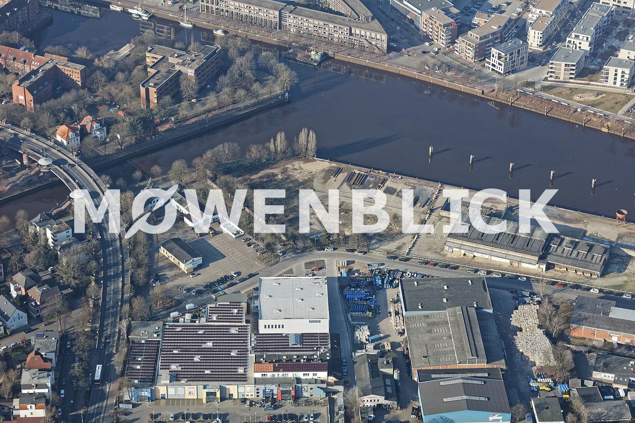 Uferstraße Luftbild