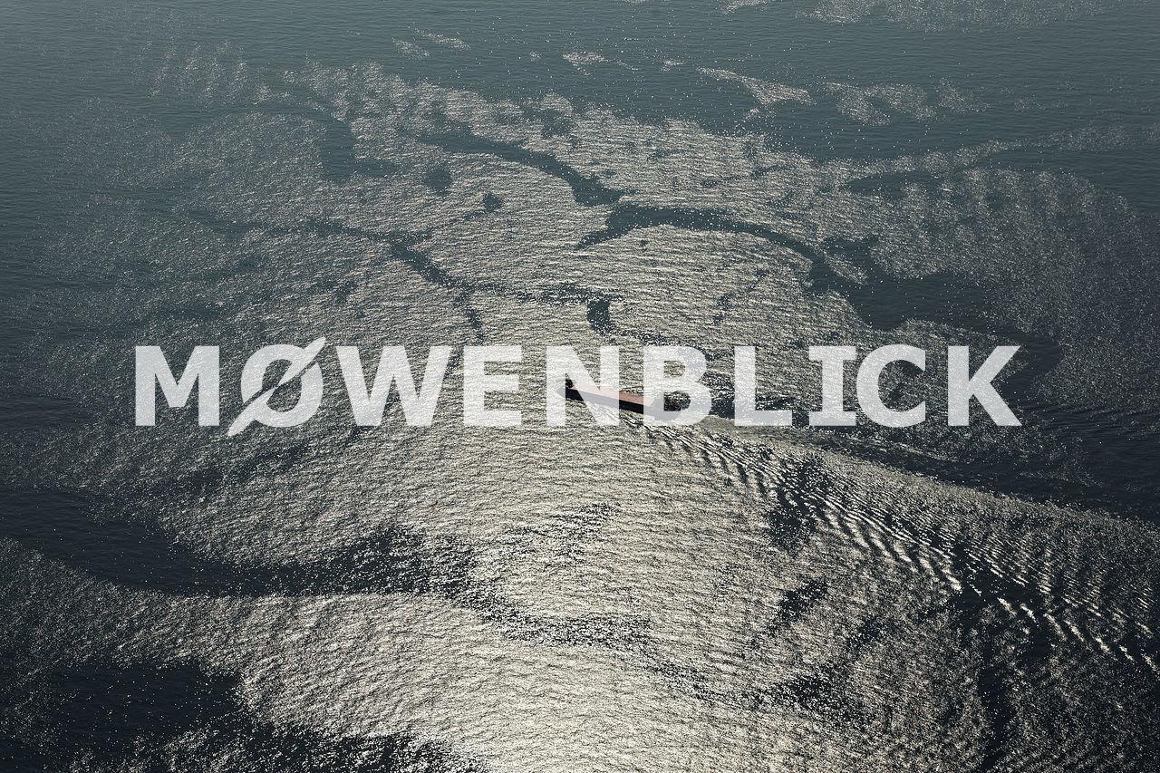 Schiff auf der Nordsee Luftbild