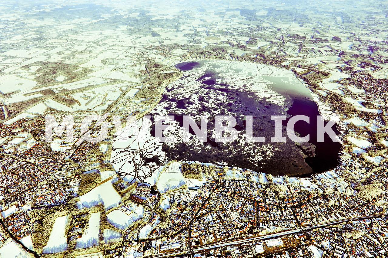 Das zugefrorene Meer Luftbild