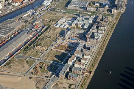 Luftaufnahme Deichhäuser Weserhäuser