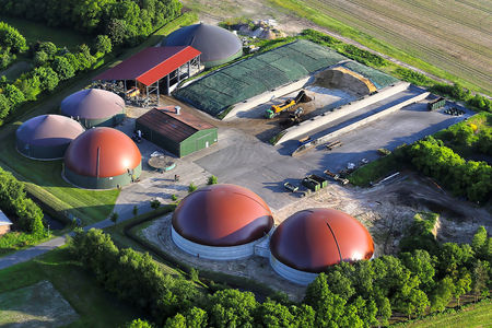 Luftaufnahme Biogasanlagen