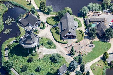 Luftaufnahme Mühlenmuseum