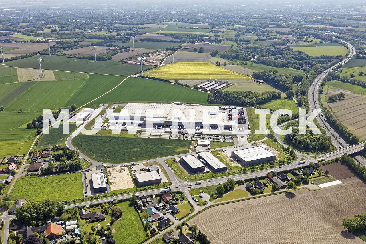 Gewerbegebiet bei NETTO Luftbild