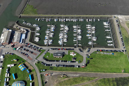 Luftaufnahme Yachtclub Accumersiel