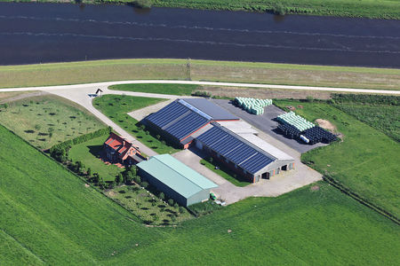 Luftaufnahme Landwirtschaft