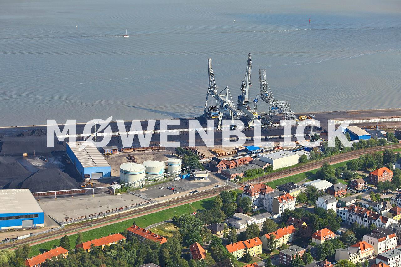 Hafenkräne Luftbild