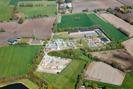 Luftaufnahme Gasverdichterstation