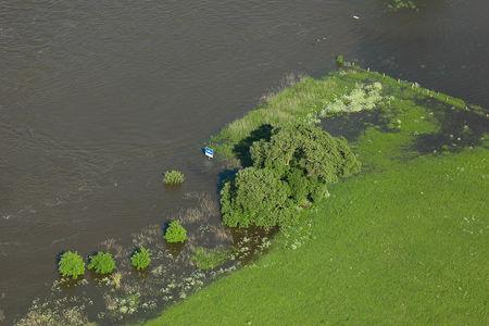 Luftaufnahme Überflutete Wiesen