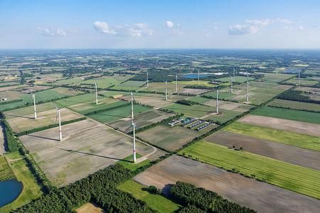 Luftaufnahme Windpark