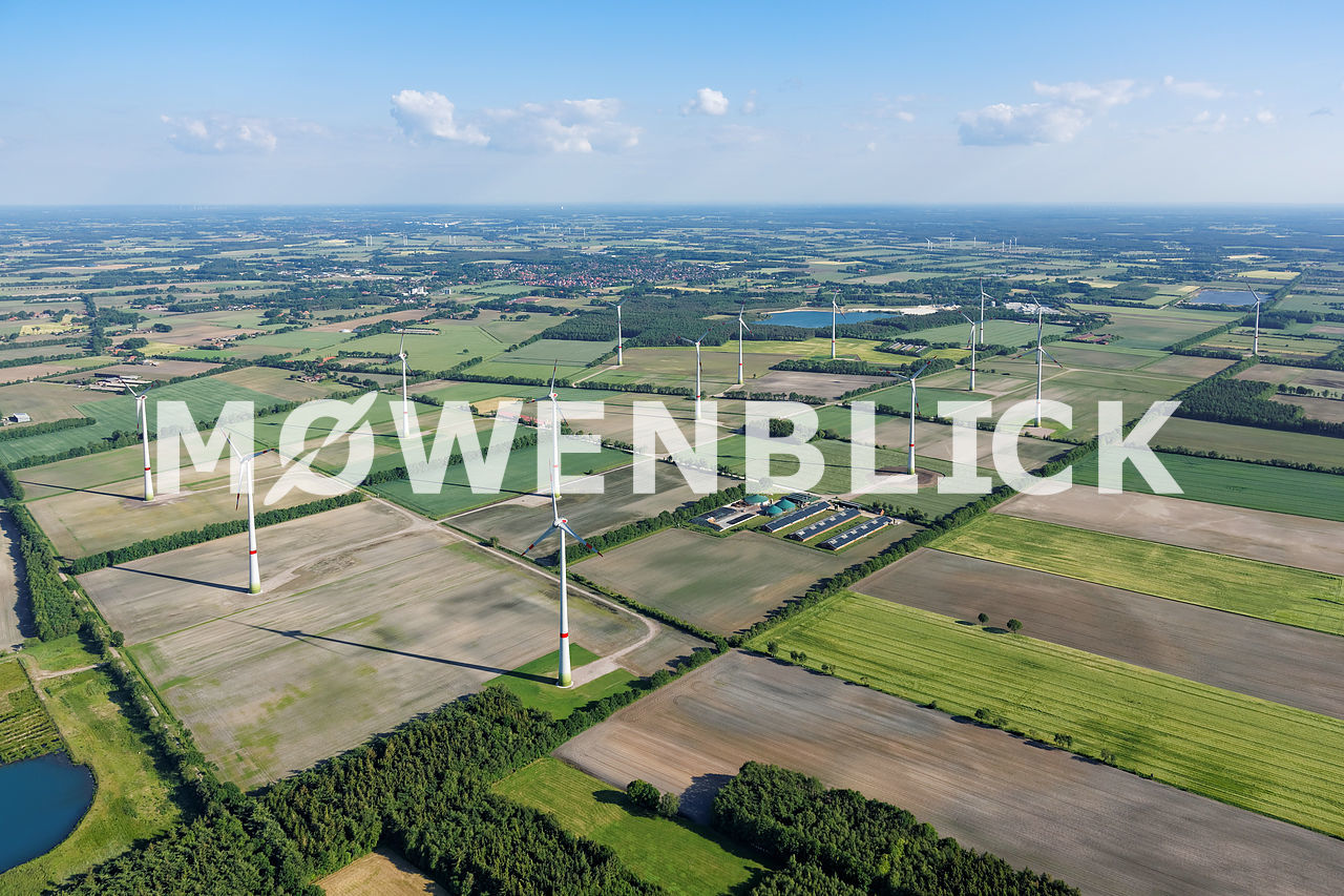 Windpark Kündelmoor Luftbild