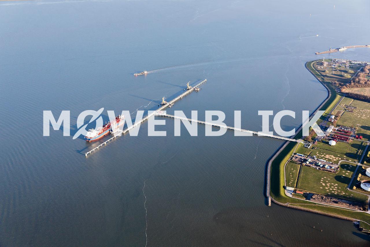 Der Ölhafen Luftbild