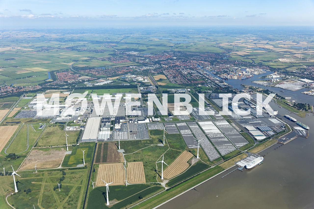 Das gesamte Volkswagenwerk Luftbild