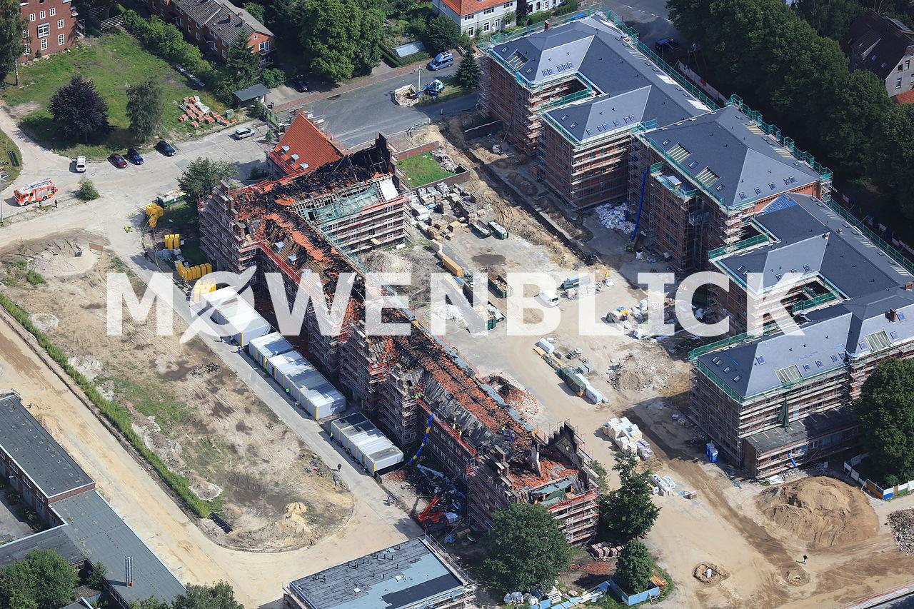Donnerschwee Kaserne Brand Luftbild