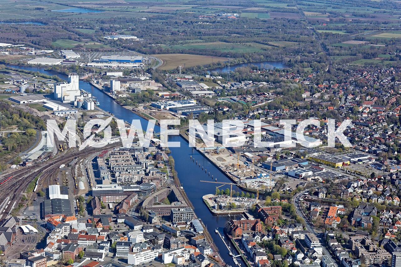 Hafen Gesamtansicht Luftbild