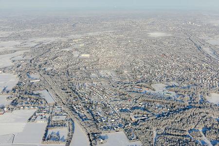 Luftaufnahme Schnee